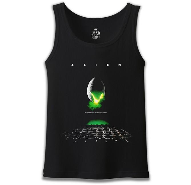 Lord Tshirt - Alien - Scream Siyah Erkek Atlet