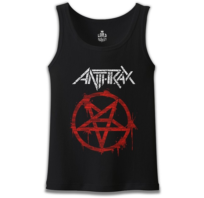 Lord Tshirt - Anthrax - Logo Siyah Erkek Atlet