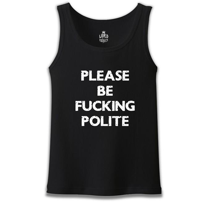 Lord Tshirt - Be Polite Siyah Erkek Atlet