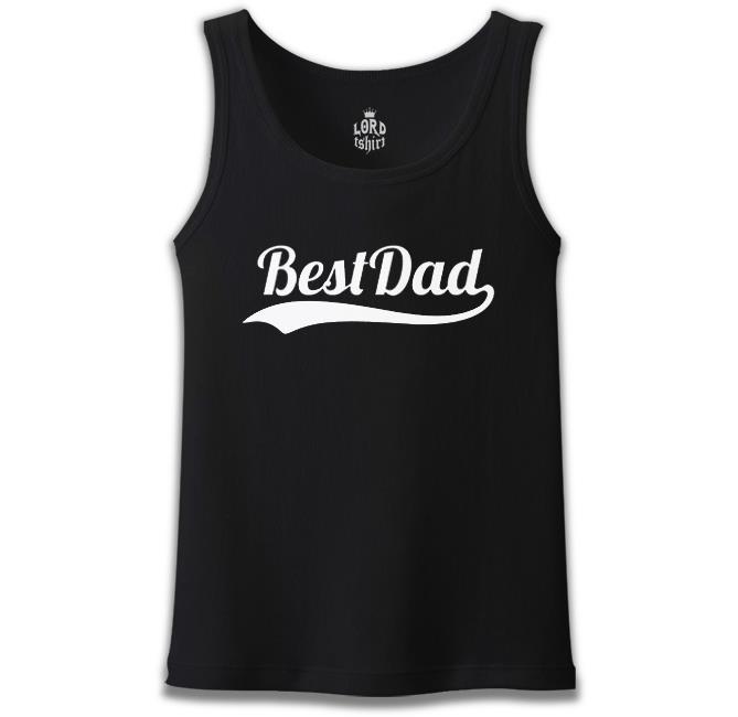 Lord Tshirt - Best Dad Siyah Erkek Atlet