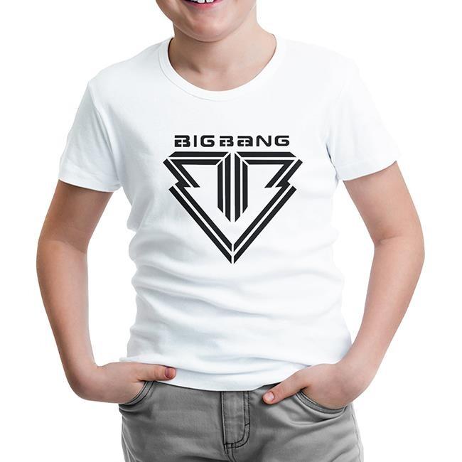 Lord Tshirt - Big Bang - Logo Beyaz Çocuk Tshirt