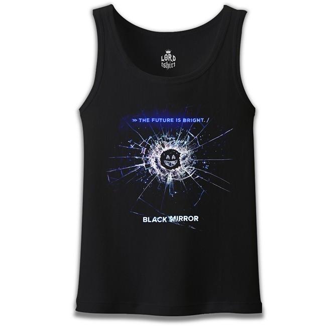 Lord Tshirt - Black Mirror Siyah Erkek Atlet