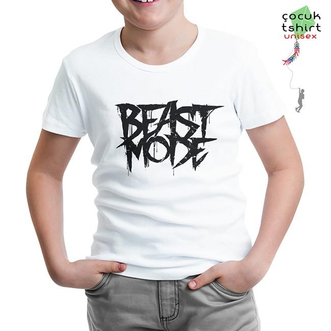 Lord Tshirt - Bodybuilding - Beast Mode Beyaz Çocuk Tshirt