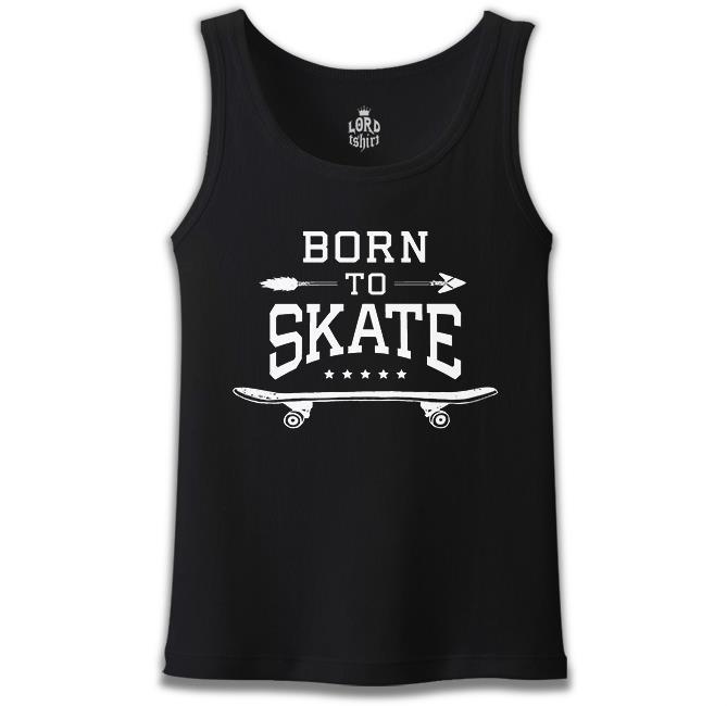 Lord Tshirt - Born to Skate Siyah Erkek Atlet