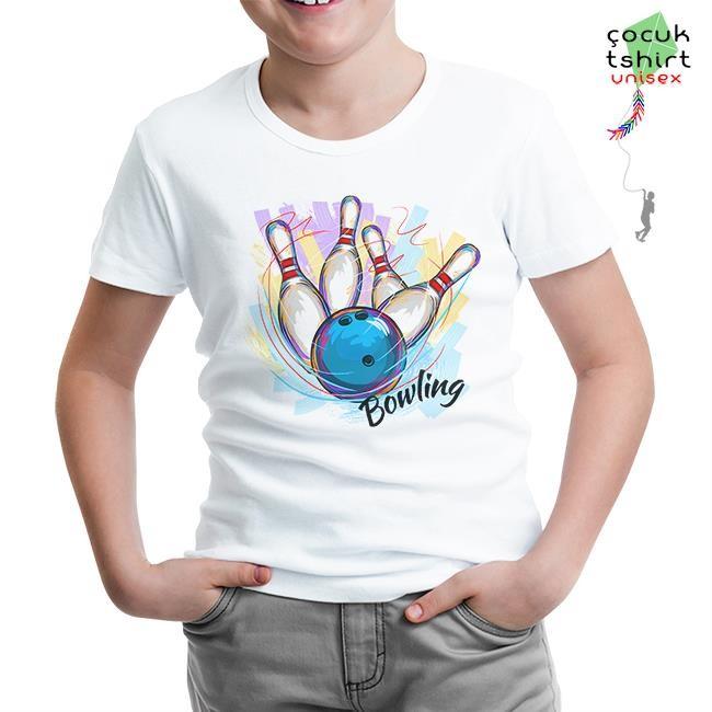 Lord Tshirt - Bowling - Atış Beyaz Çocuk Tshirt
