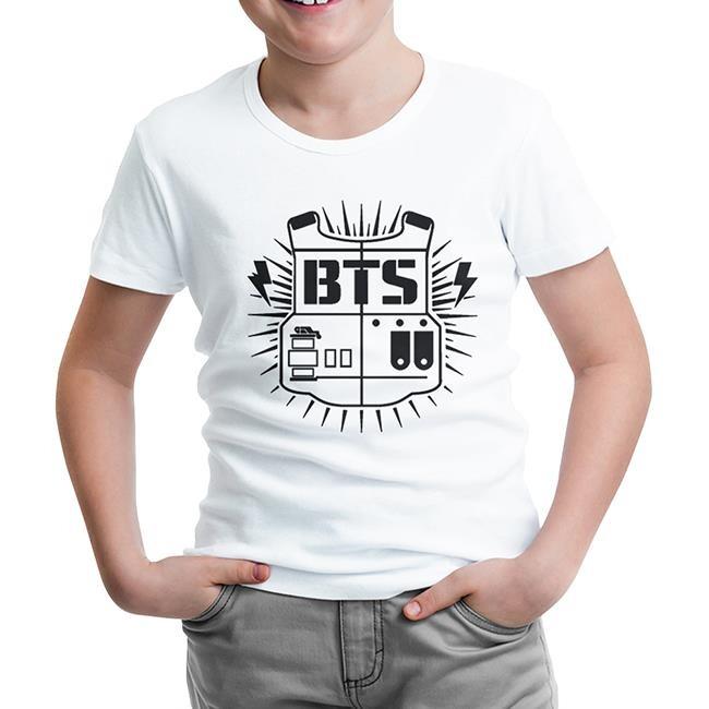 Lord Tshirt - BTS - Logo Beyaz Çocuk Tshirt