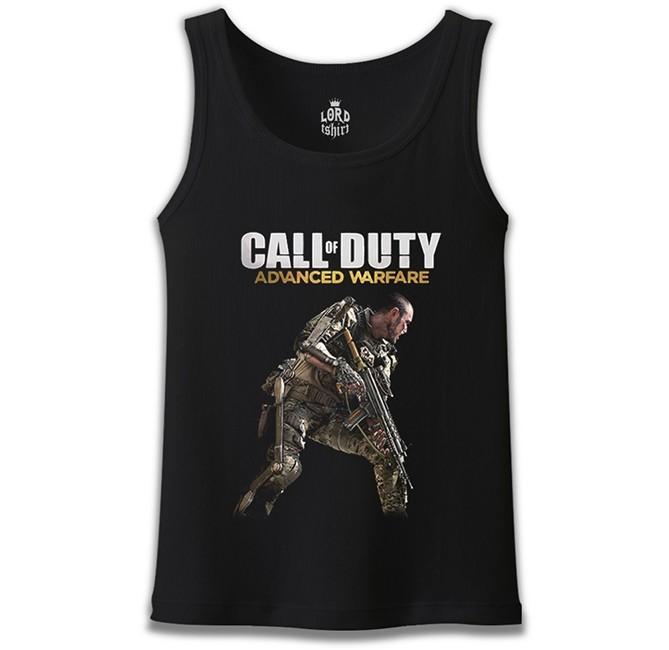 Lord Tshirt - Call of Duty - Advanced Warfare Siyah Erkek Atlet