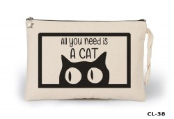 Lord Tshirt - Cats - All u Need Ham Bez Clutch / El Çantası Astarlı