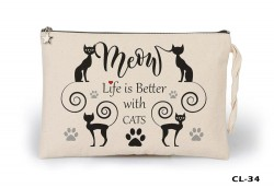 Lord Tshirt - Cats - Better Life Ham Bez Clutch / El Çantası Astarlı
