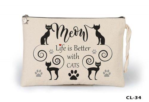 Cats - Better Life Ham Bez Clutch / El Çantası Astarlı