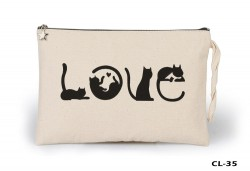 Lord Tshirt - Cats - Love Ham Bez Clutch / El Çantası Astarlı