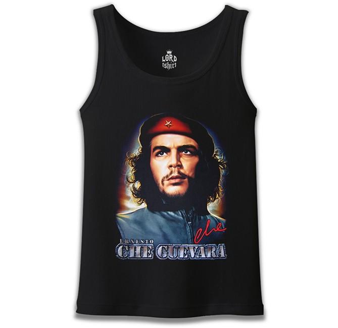 Lord Tshirt - Che Guevara - Classic Siyah Erkek Atlet