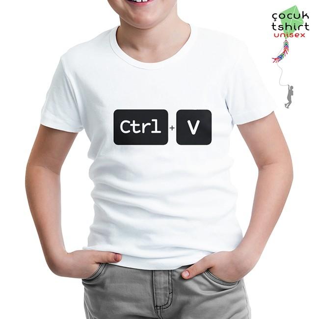 Lord Tshirt - Ctrl+V Beyaz Çocuk Tshirt