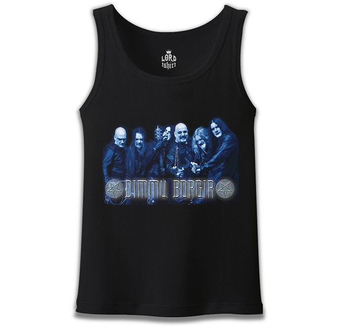 Lord Tshirt - Dimmu Borgır - Grup Siyah Erkek Atlet