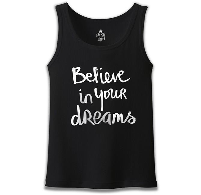 Lord Tshirt - Dream Believing Siyah Erkek Atlet