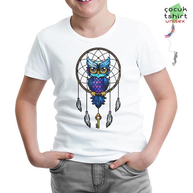 Lord Tshirt - Düş Kapanı - Baykuş Beyaz Çocuk Tshirt