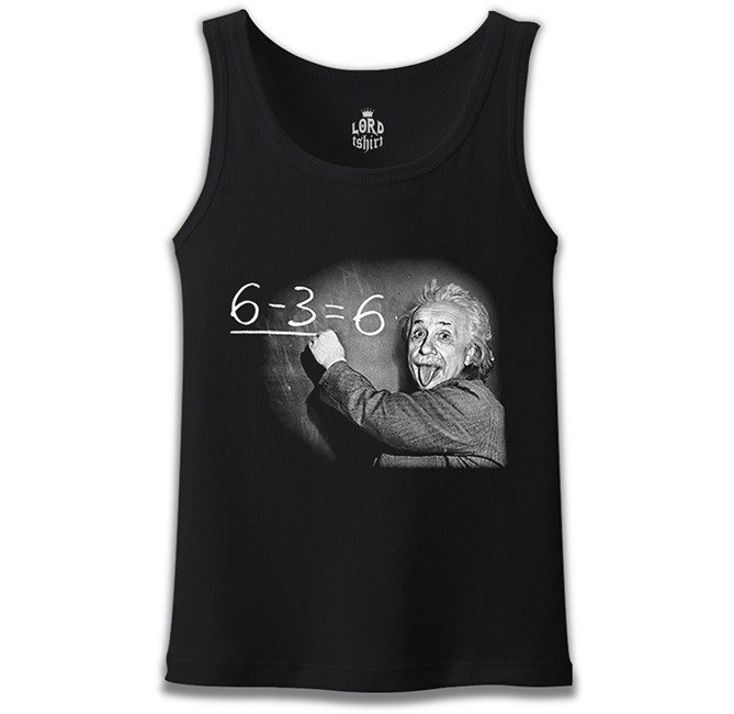 Lord Tshirt - Einstein Siyah Erkek Atlet