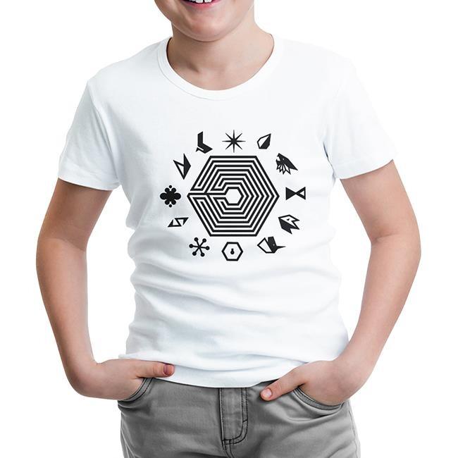 Lord Tshirt - EXO - EXOplanet Beyaz Çocuk Tshirt