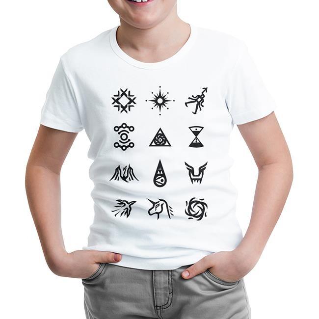 Lord Tshirt - EXO - Signs Beyaz Çocuk Tshirt