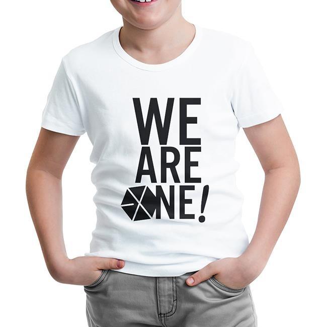 Lord Tshirt - EXO - We are One Beyaz Çocuk Tshirt