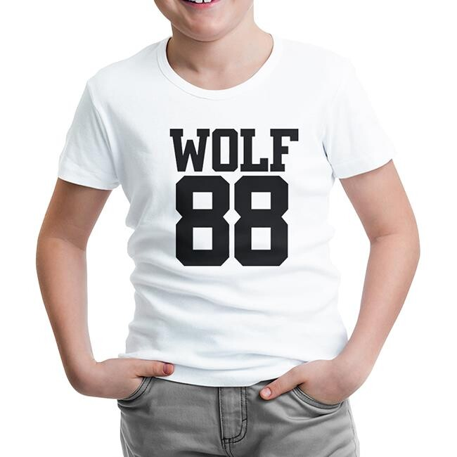 Lord Tshirt - EXO - Wolf 88 Beyaz Çocuk Tshirt