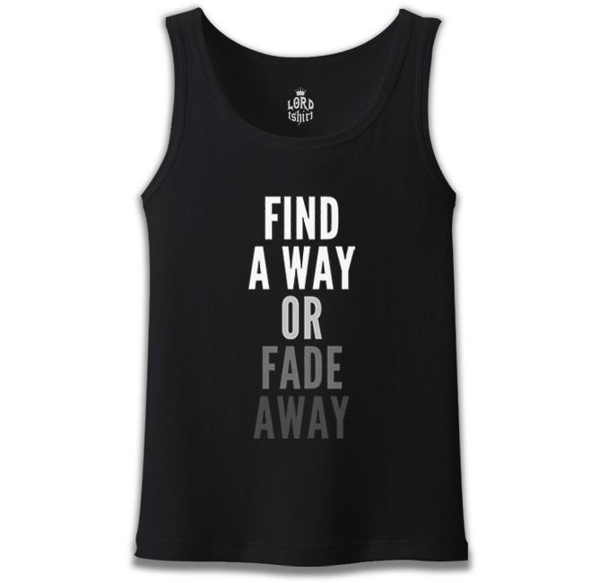 Lord Tshirt - Find a Way Siyah Erkek Atlet