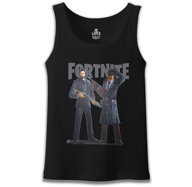Lord Tshirt - Fortnite - Gangs Siyah Erkek Atlet