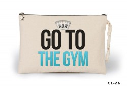 Lord Tshirt - Go to the Gym Ham Bez Clutch / El Çantası Astarlı
