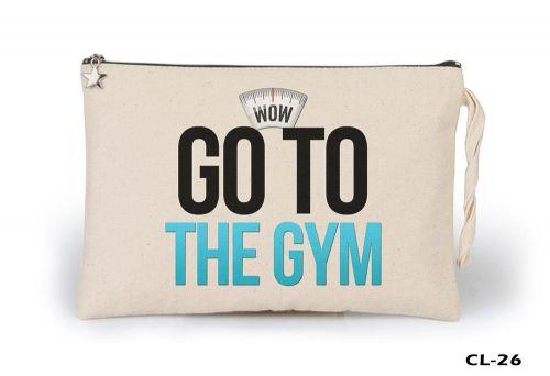 Go to the Gym Ham Bez Clutch / El Çantası Astarlı
