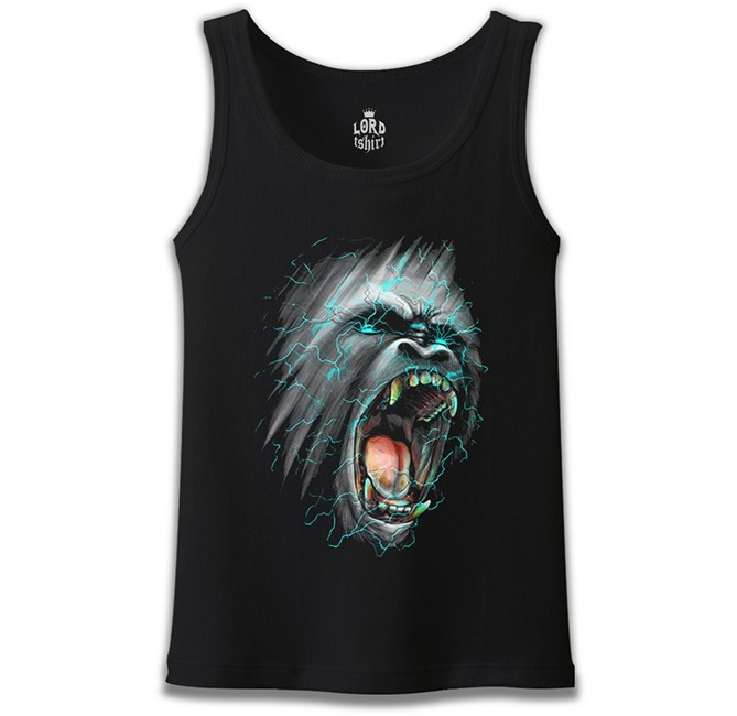 Lord Tshirt - Goril Siyah Erkek Atlet