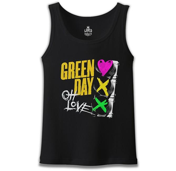Lord Tshirt - Green Day - Oh Love Siyah Erkek Atlet