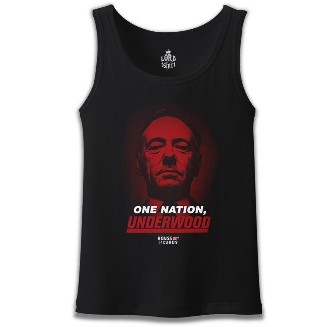 Lord Tshirt - House of Cards - One Nation Siyah Erkek Atlet