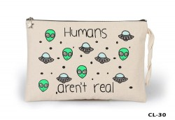 Lord Tshirt - Humans aren't Real Ham Bez Clutch / El Çantası Astarlı