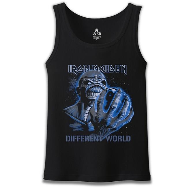 Lord Tshirt - Iron Maiden - Different World Siyah Erkek Atlet