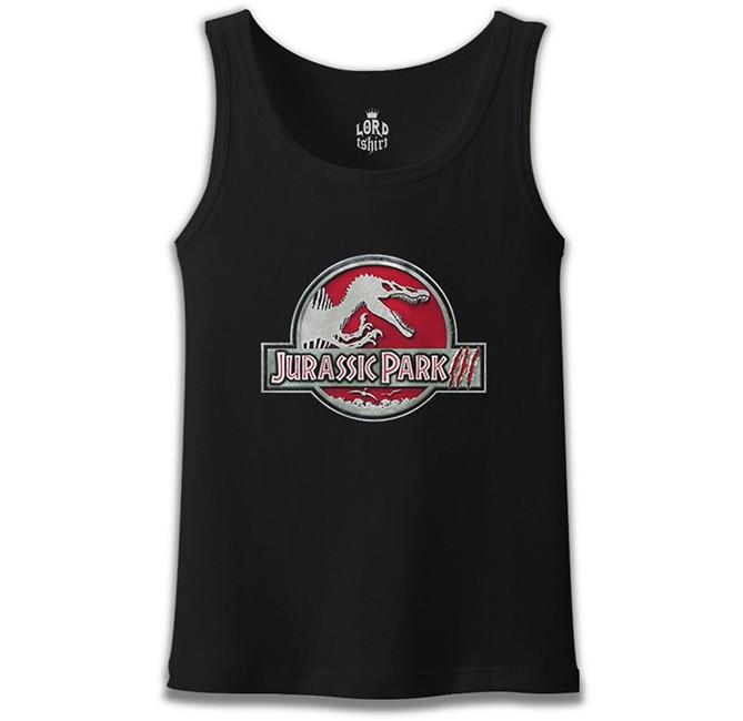 Lord Tshirt - Jurassic Park - Logo Siyah Erkek Atlet