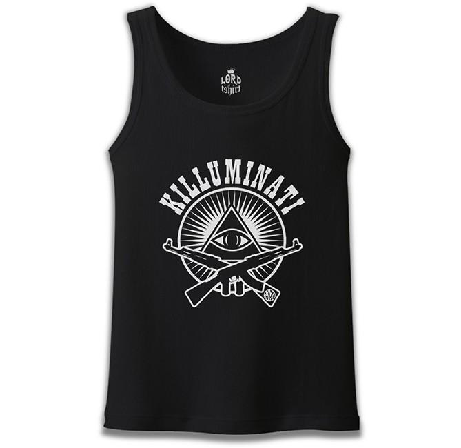 Lord Tshirt - Killuminati Siyah Erkek Atlet