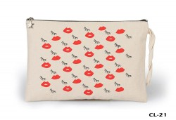 Lord Tshirt - Kiss my Eyes Ham Bez Clutch / El Çantası Astarlı