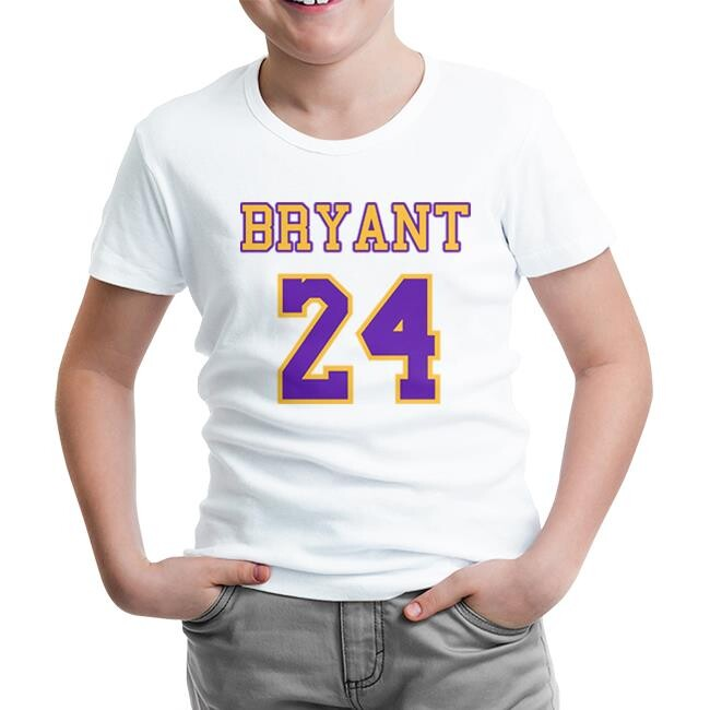 Lord Tshirt - Kobe Bryant - 24 Beyaz Çocuk Tshirt