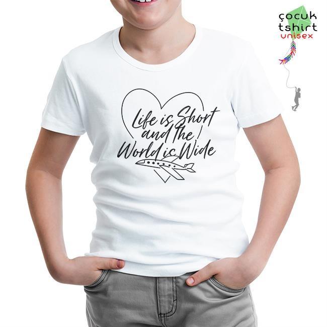 Lord Tshirt - Life is Short Beyaz Çocuk Tshirt