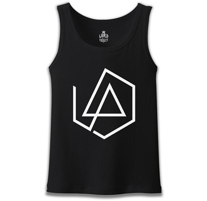 Lord Tshirt - Linkin Park - Logo 4 Siyah Erkek Atlet