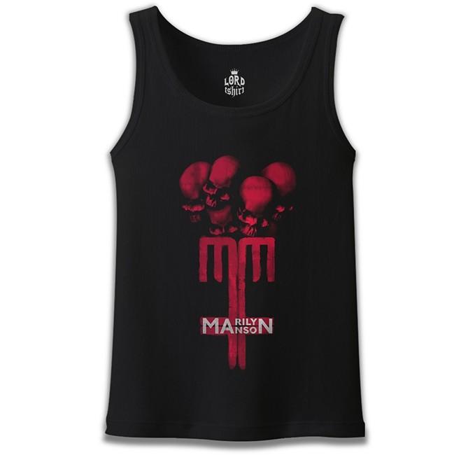 Lord Tshirt - Marilyn Manson - MM Siyah Erkek Atlet