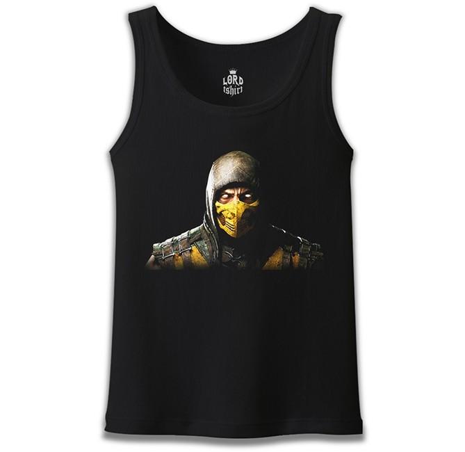 Lord Tshirt - Mortal Combat - Scorpion Siyah Erkek Atlet