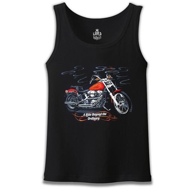 Lord Tshirt - Motosiklet - Ride Extraordinary Siyah Erkek Atlet