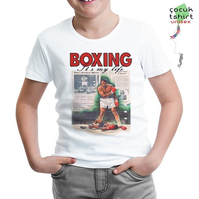Lord Tshirt - Muhammad Ali - My Life Beyaz Çocuk Tshirt