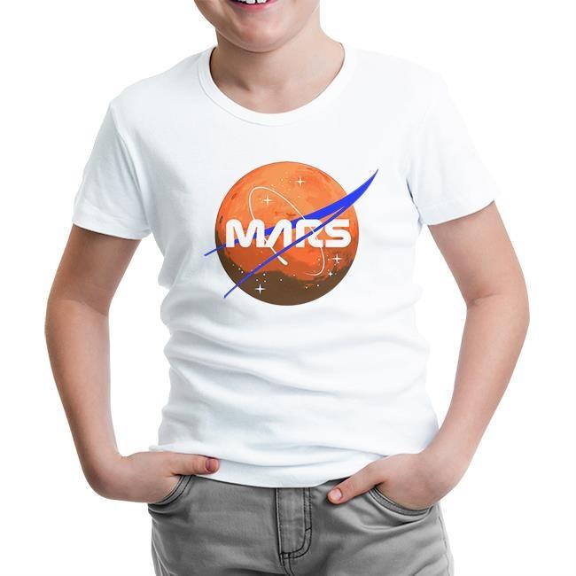 Lord Tshirt - Nasa Mars Logo Beyaz Çocuk Tshirt