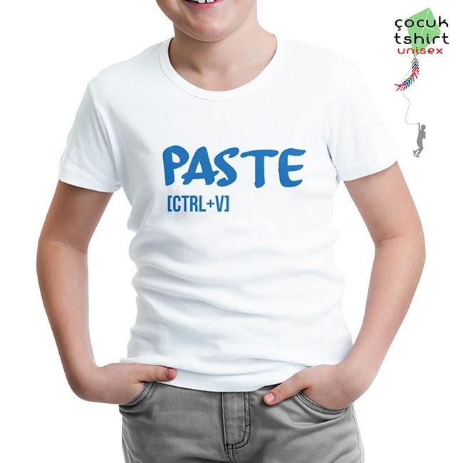 Lord Tshirt - Paste - Ctrl+V Beyaz Çocuk Tshirt