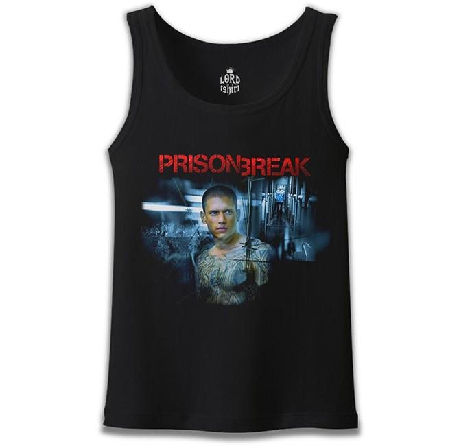 Lord Tshirt - Prison Break - Night Break Siyah Erkek Atlet