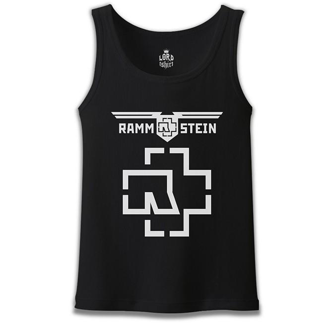 Lord Tshirt - Rammstein - Logo Siyah Erkek Atlet