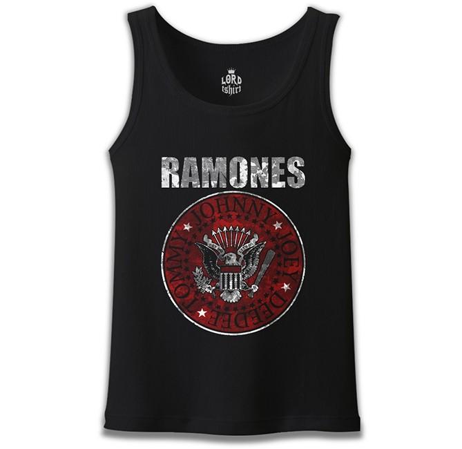 Lord Tshirt - Ramones Siyah Erkek Atlet