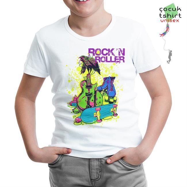 Lord Tshirt - Rock'n Roller Beyaz Çocuk Tshirt